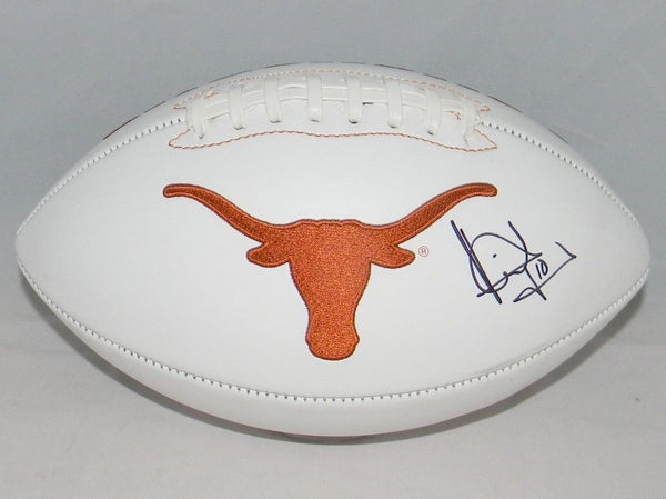 Vince Young Autographed Texas Longhorns Logo Football