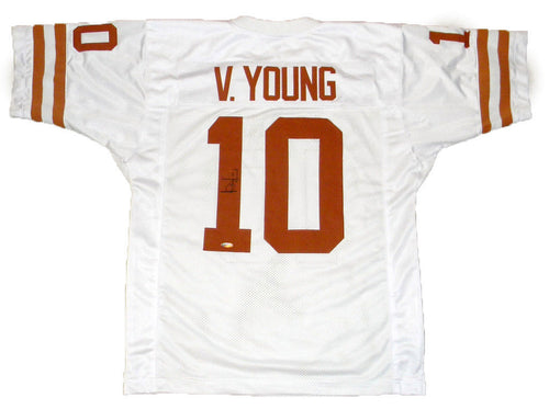 Vince Young Autographed Texas Longhorns #10 White Jersey