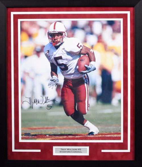 Troy Walters Autographed Stanford Cardinal 16x20 Framed Photograph