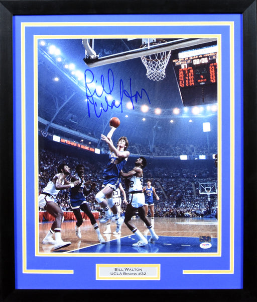 Bill Walton Autographed UCLA Bruins 16x20 Framed Photograph (vs Memphis St)