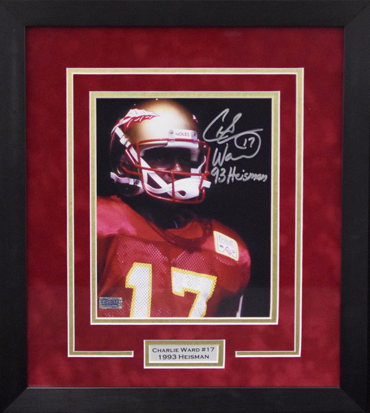 Charlie Ward Autographed Florida State Seminoles 8x10 Framed Photograph - Tunnel