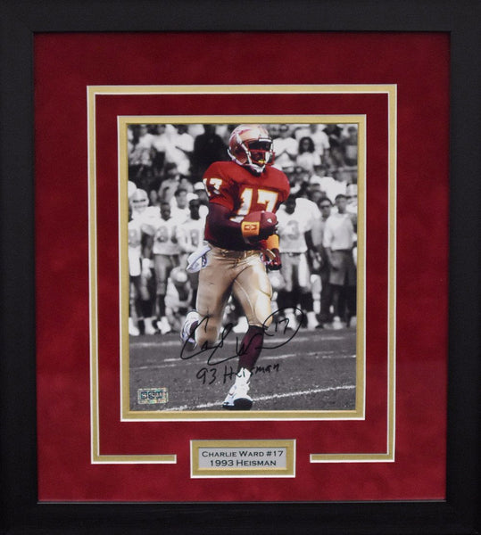 Charlie Ward Autographed Florida State Seminoles 8x10 Framed Photograph - Spotlight