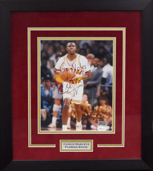 Charlie Ward Autographed Florida State Seminoles 8x10 Framed Photograph - Solo