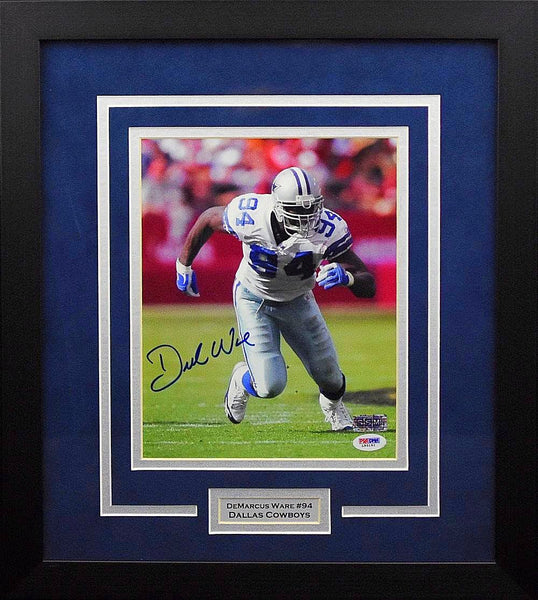 Demarcus Ware Autographed Dallas Cowboys 8x10 Framed Photograph
