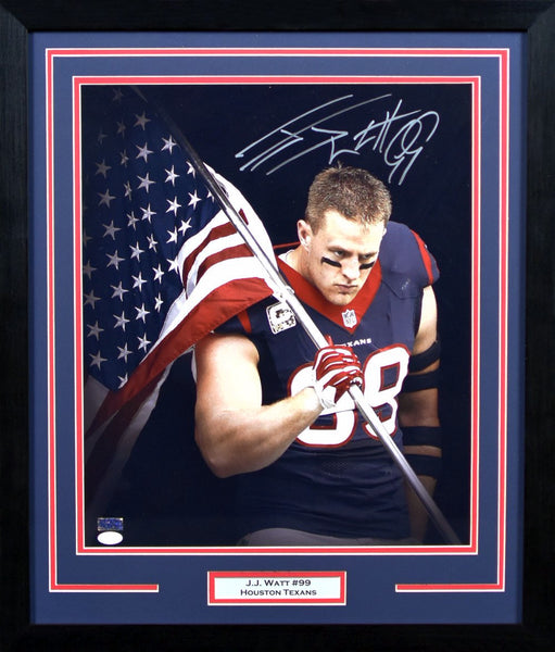 JJ Watt Autographed Houston Texans 16x20 Framed Photograph