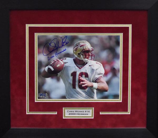 Chris Weinke Autographed Florida State Seminoles 8x10 Framed Photograph - Horizontal