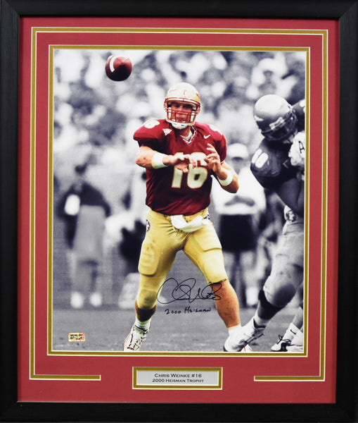 Chris Weinke Autographed Florida State Seminoles 16x20 Framed Photograph