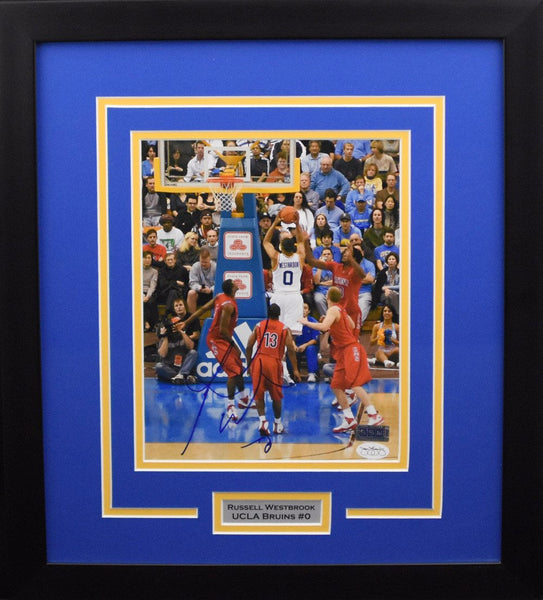 Russell Westbrook Autographed UCLA Bruins 8x10 Framed Photograph (vs Arizona)