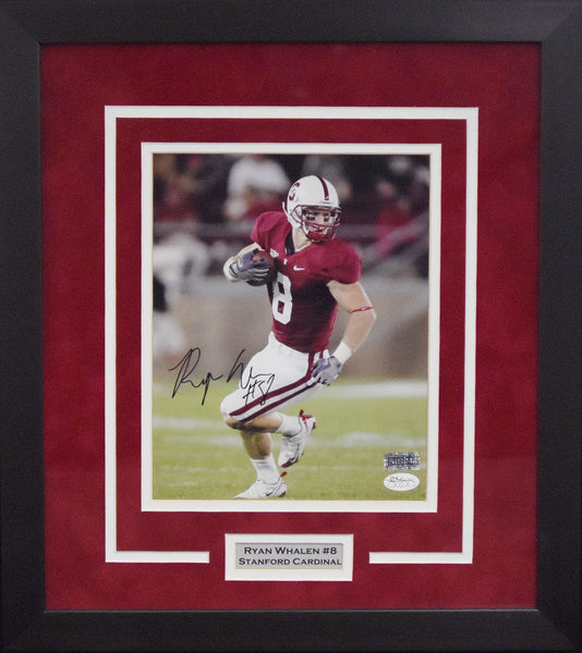 Ryan Whalen Autographed Stanford Cardinal 8x10 Framed Photograph