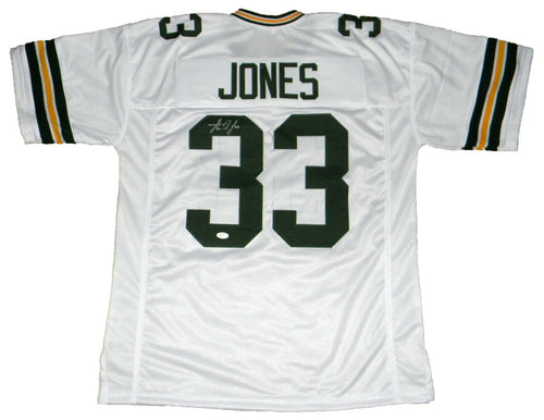Aaron Jones Autographed Green Bay Packers #33 White Jersey