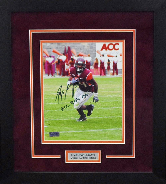 Ryan Williams Autographed Virginia Tech Hokies 8x10 Framed Photograph