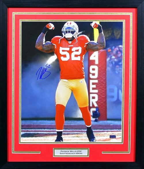 Patrick Willis Autographed San Francisco 49ers 16x20 Framed Photograph