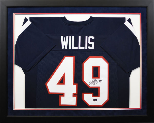Patrick Willis Autographed Ole Miss Rebels #49 Framed Jersey