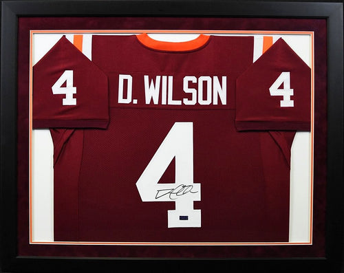 David Wilson Autographed Virginia Tech Hokies #4 Framed Jersey