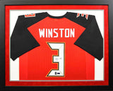 Jameis Winston Autographed Tampa Bay Buccaneers #3 Framed Jersey