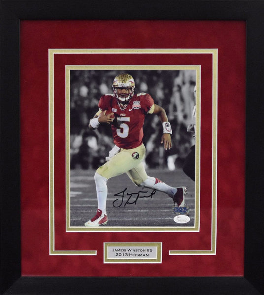 Jameis Winston Autographed Florida State Seminoles 8x10 Framed Photograph