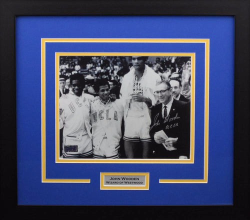 John Wooden Autographed UCLA Bruins 8x10 Framed Photograph