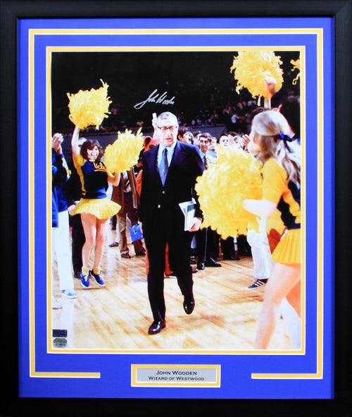 John Wooden Autographed UCLA Bruins 16x20 Framed Photograph