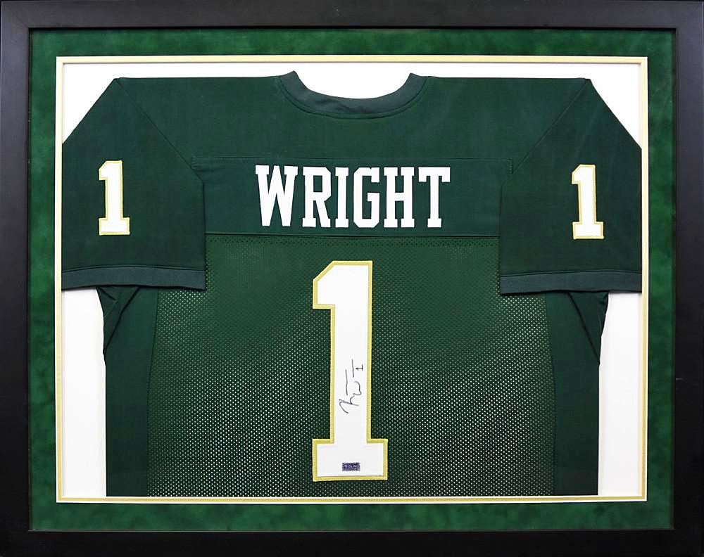 Kendall Wright Autographed Baylor Bears #1 Framed Jersey