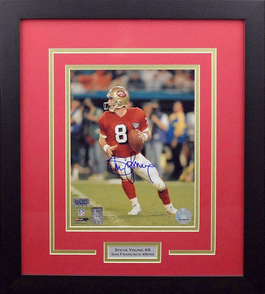 Steve Young Autographed San Francisco 49ers 8x10 Framed Photograph