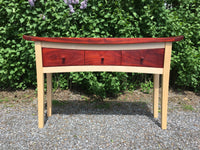 Custom made Maple and Padauk Credenza