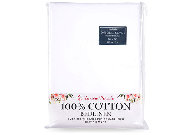 Gx 100% Cotton Percale Duvet Cover
