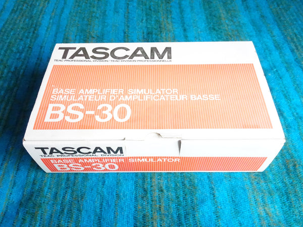 Tascam BS-30 Bass Amp Simulator w/ Box, AC Adapter - 80's New Old Stock - E161