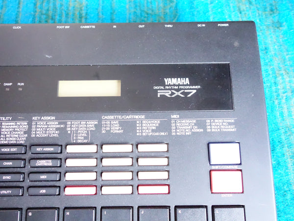 Yamaha RX7 Digital Rhythm Programmer w/ Adapter - Factory Data Reset - F06
