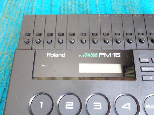 Roland PM-16 Pad-Midi Interface - Drum Trigger Module w/ AC Adapter - F121