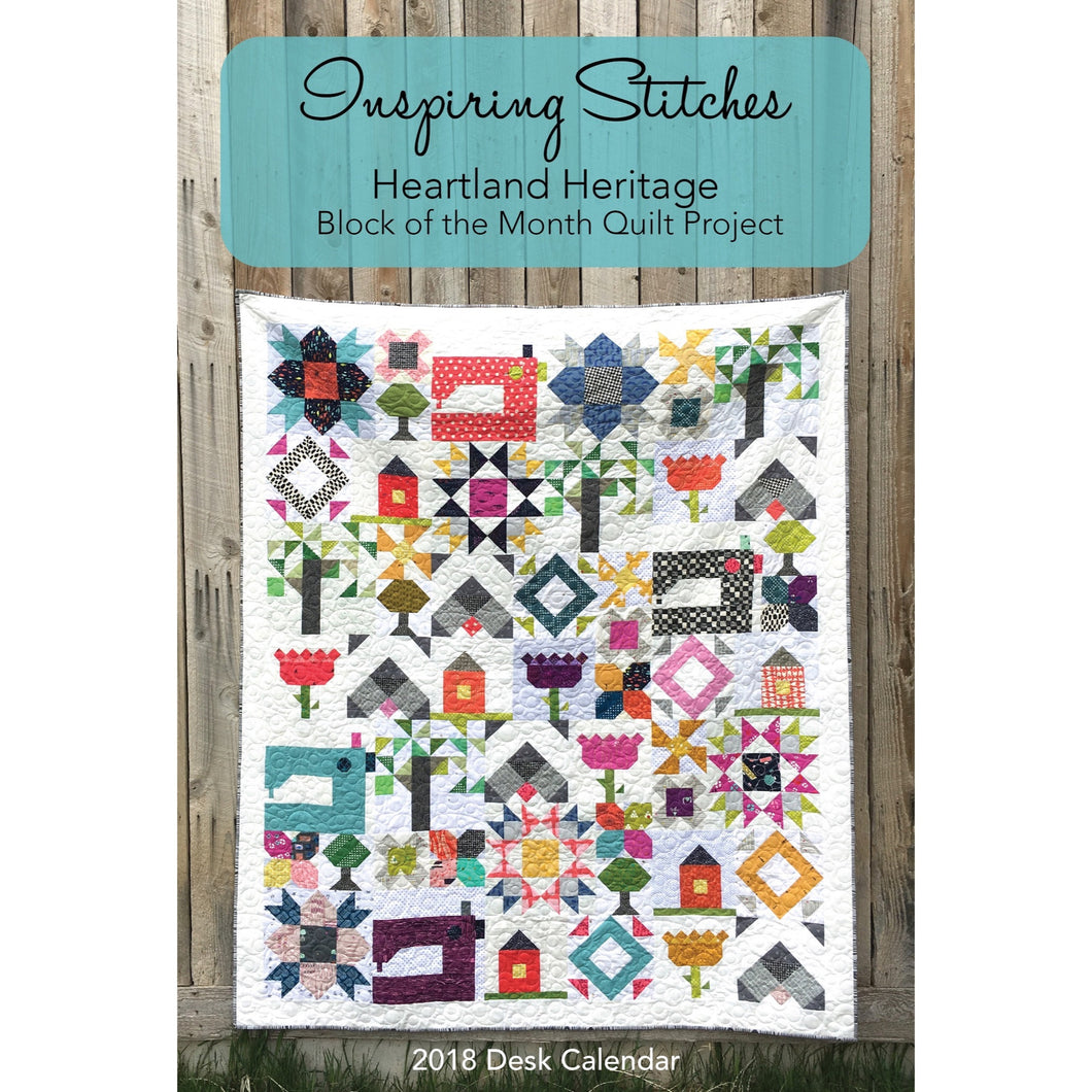 2018 Heartland Heritage Block of the Month Calendar