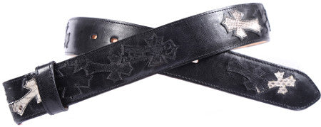 Black Cross Inlay Belt