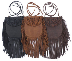 Fringe Leather Crossbody