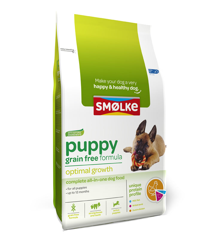 Smølke Puppy Grain Free Formula; Optimal Growth (12KG)