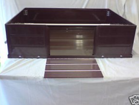 UPVC easy clean whelping box 48x36x12