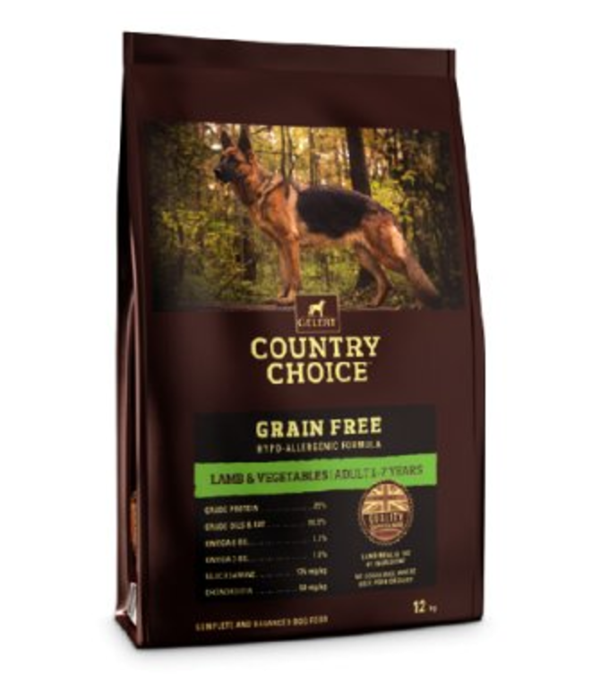 Country Choice Grain Free Adult Dog Food - Lamb