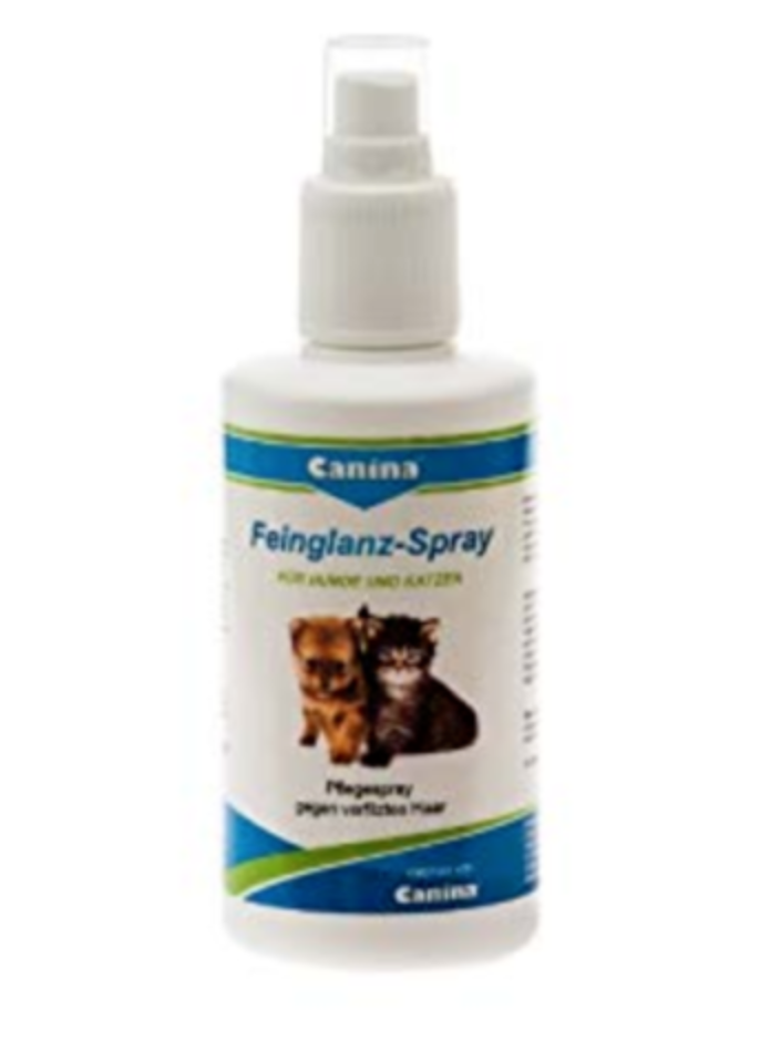 FINE GLOSS SPRAY for dogs and cats with hydrolyzed silk proteins from silkworm