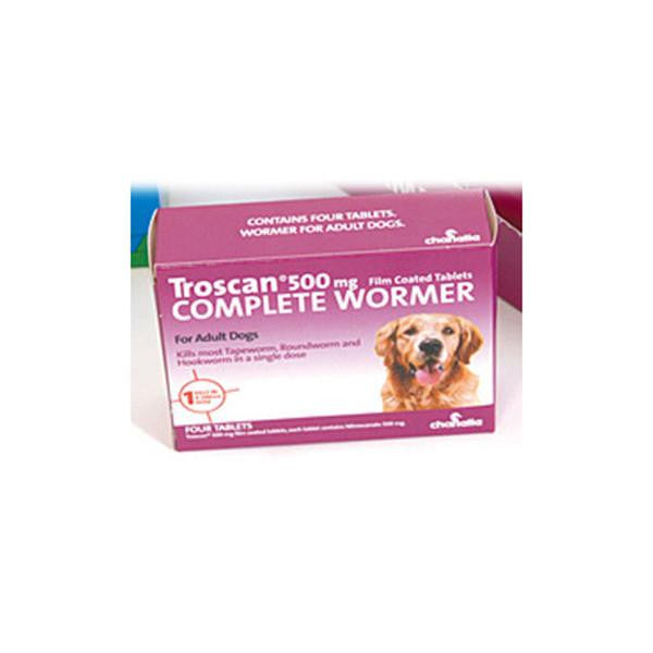 Troscan 500 4 Tablets Adult Wormer