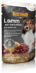 Belcando Finest Selection Pouches: Lamb with potatoes and cranberries
