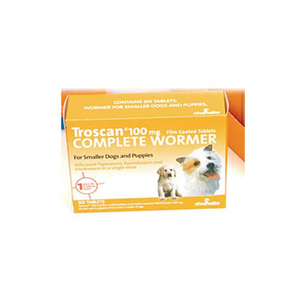 Troscan 100 6 Tablets Puppy Wormer