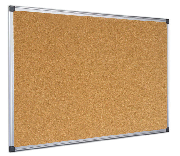 A Maya Cork Board with an Aluminium Frame supplied by Novel Idea Online. Free Shipping and Great Customer Service on all orders.