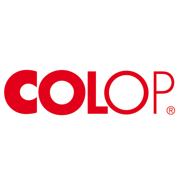 Colop's fantastically designed logo. Colop are world leaders in self-inking stampers and ink pads. Novel Idea Online supply these products at competitive prices. Free Shipping on all orders.