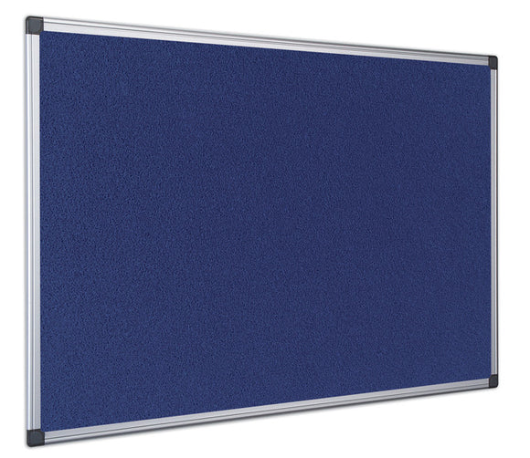 An image of an Aluminium Framed, Blue Felt, Noticed Board. Supplied by Novel Idea Online. Free Shipping on all orders.