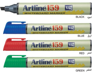 Artline 159 2-5mm Chisel Tip Dry Wipe Markers Pack 12