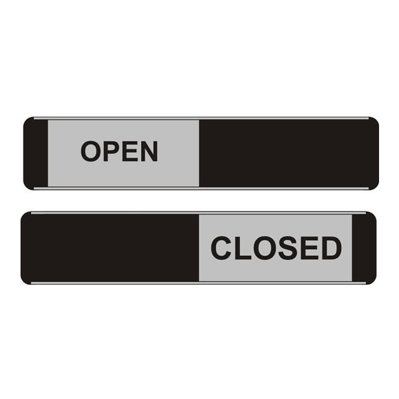 Stewart Superior supply us here at Novel Idea Online with a wide range of Sliding Office Door Signs. This one in particular displays open/closed and is perfect for office environments and also small businesses. Available at Novel Idea Online, Free Shipping on all orders.
