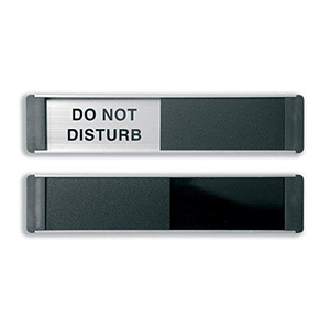 Novel Idea Online provide a wide range of Sliding Door Signs. The one pictured displays the message Do Not Disturb. Perfect for offices and busy meeting rooms. Free Shipping on all orders.