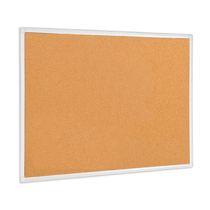 An image of the Anti-Microbial Maya Cork Board in its professional and sleek Aluminium Frame.