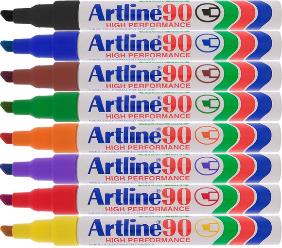 Artline 90 Best selling standard sized permanent marker with chisel nib.