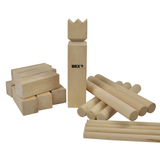 This is Bex's Kubb Family Game out of its box and ready for a game in the garden this summer. Great fun for family and friends of all ages. One of the few known about real Viking games, played in ancient times. Available at Novel Idea Online. Free Shipping on all Orders.