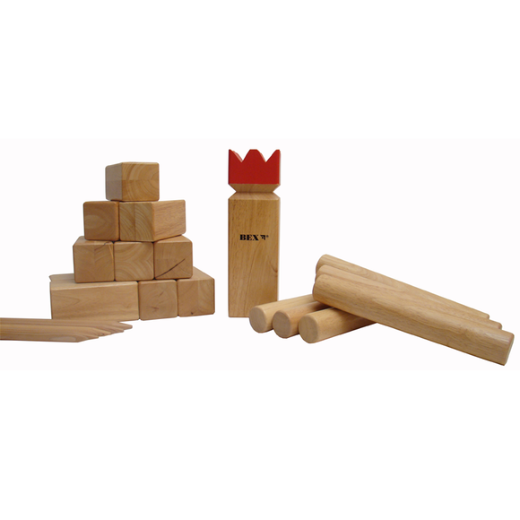 Here is Bex's Kubb Pro Game, which is official tournament size, unboxed and ready for usage. This game is great fun for playing with your friends and family during summer. The game is of Viking origin and is fun and exciting to play. Available at Novel Idea Online. Free Shipping on all Orders.