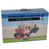 Here we can see the box for the Original Tournament of Knights. This game is brilliant for outdoor fun this summer. Invite all your family and friends over to play. Available at Novel Idea Online. Free Shipping on all Orders.